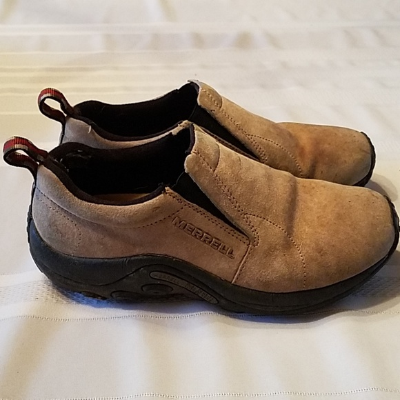 MERRELL SUEDE SLIP ON SHOES JUNGLE MOC AC WOMENS DUSTY OLIVE NEW 7 9 10